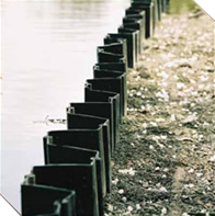 recycled pilings